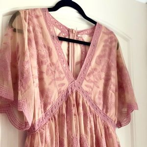 Pinkblush Lace Overlay Maxi